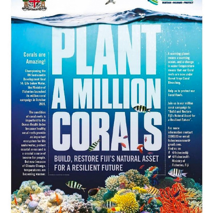 Plant a million Corals in Fiji, ADE Project