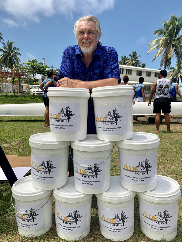 Buckets used by ADE Project Fiji for coral plugs